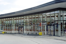 Altrincham, Facade of Altrincham's new Interchange, Cheshire © Anthony O'Neil